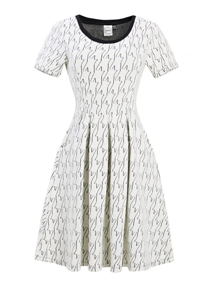 Cece Stretch Dress – Dogtooth