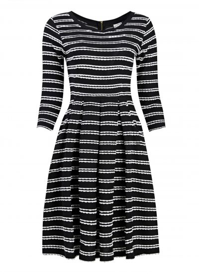 Gigi black stripe dress