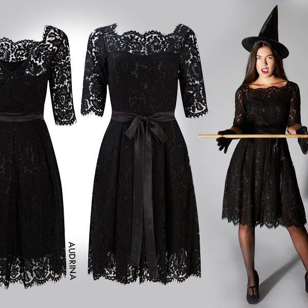 Halloween black audrina dress