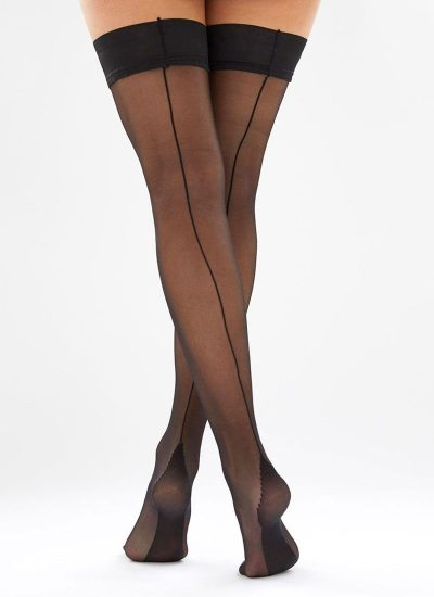 Black hold-ups with black seam
