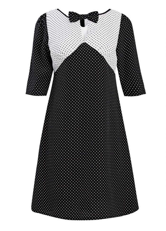 Misty Polka Dot Shift Dress