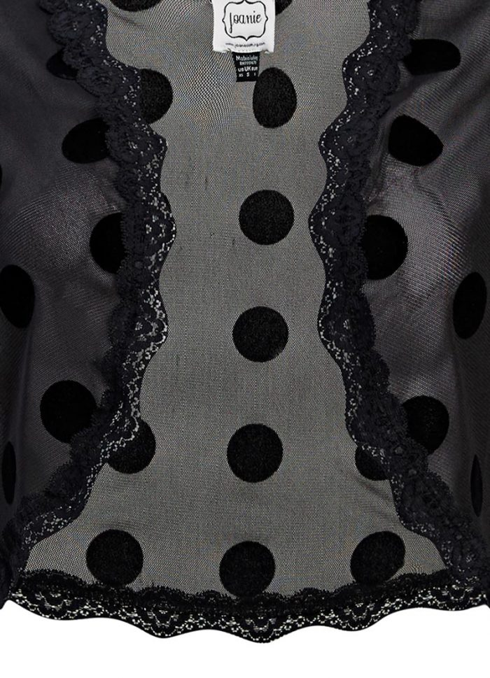 Alexa Sheer Polka Dot Shrug