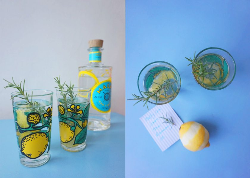 Mediterranean Gin & Tonic Cocktail
