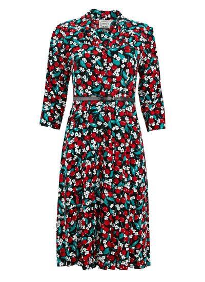 Cherry Print Shirt Dress