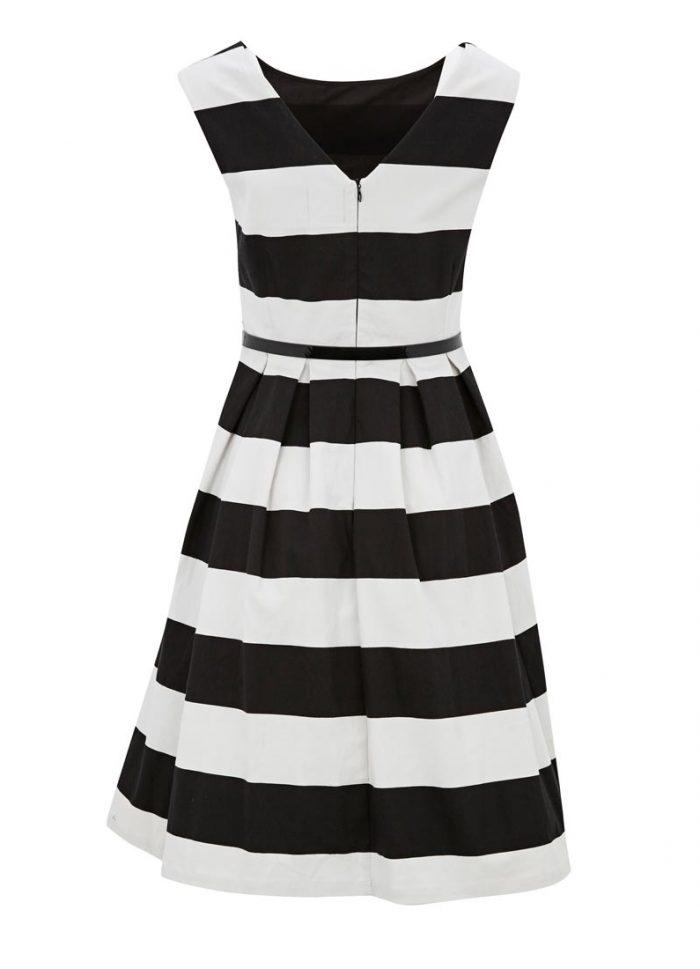 Betty Monochrome Stripe Dress