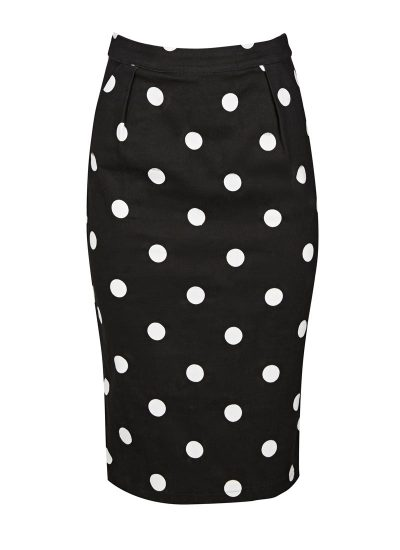 Ella Polka Dot Button Skirt