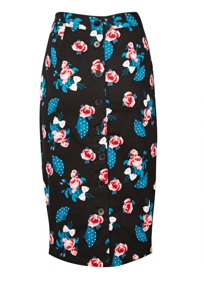 Ella Pencil Skirt – Rose