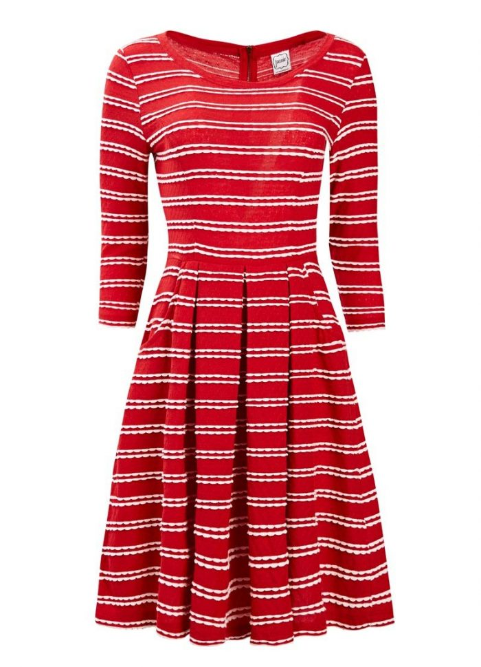 Gigi Scallop Stripe Dress