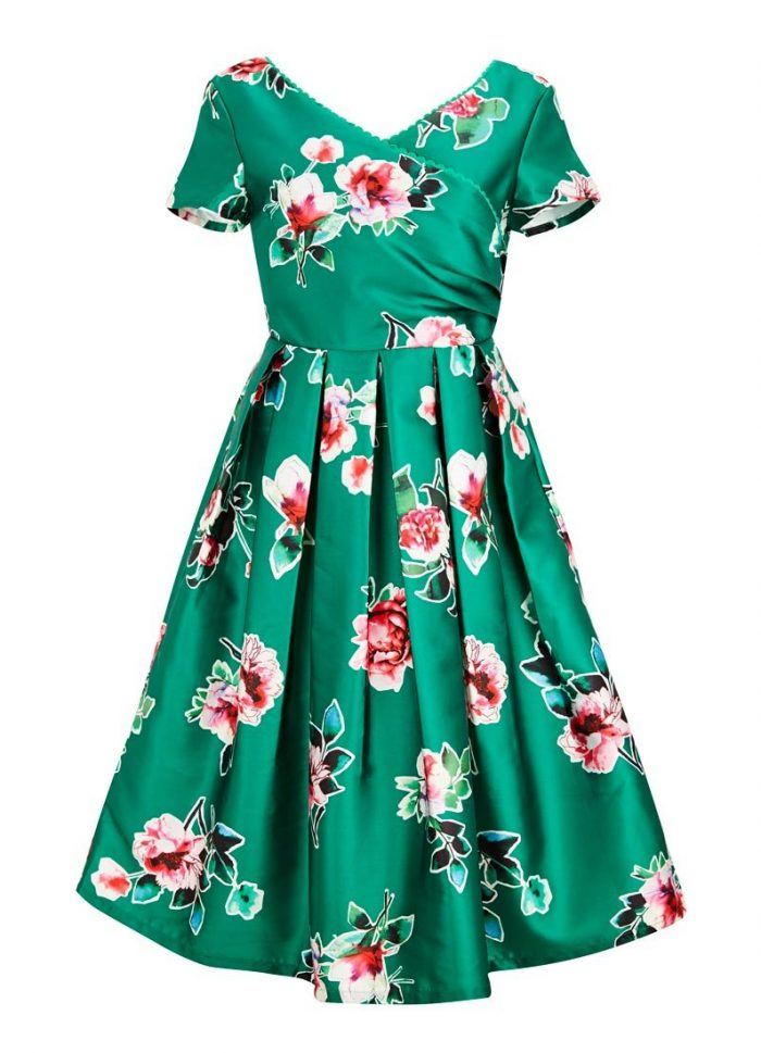 Harper Floral Wrap Front Dress