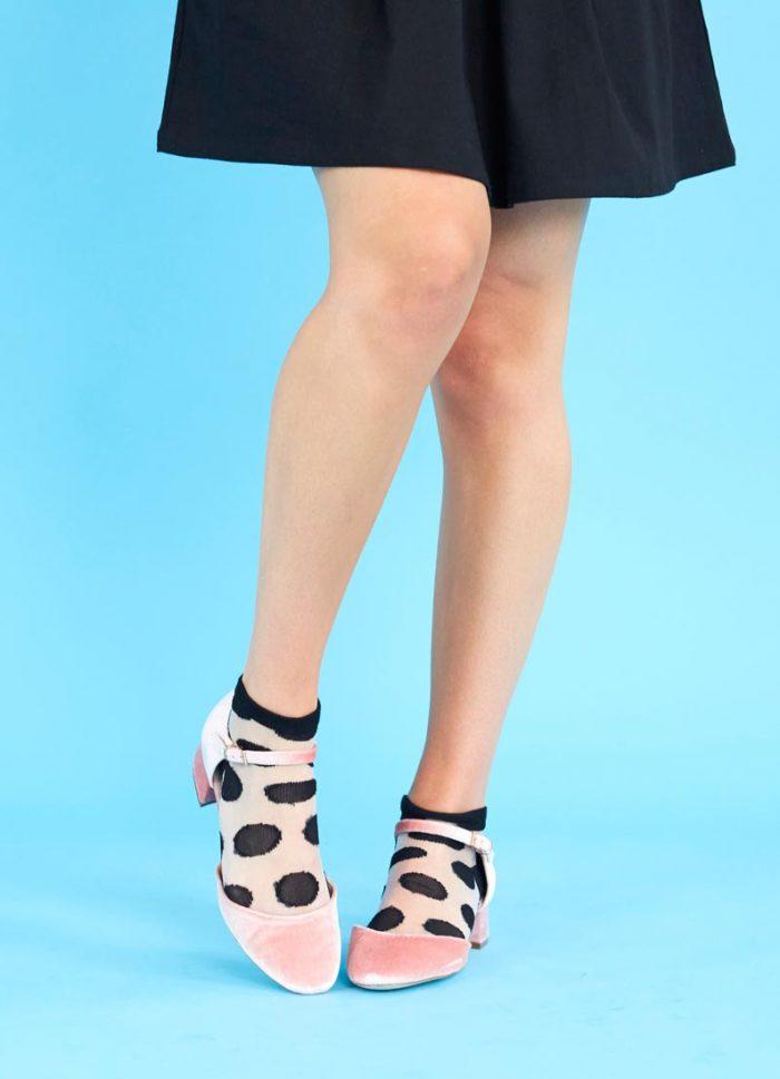 Katie Polka Dot Ankle Socks
