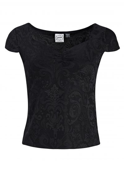 Black Capped Sleeve Top
