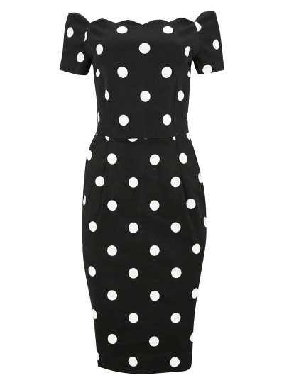 Polka Dot Bardot Dress