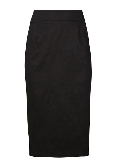 Black Bow Pencil Skirt