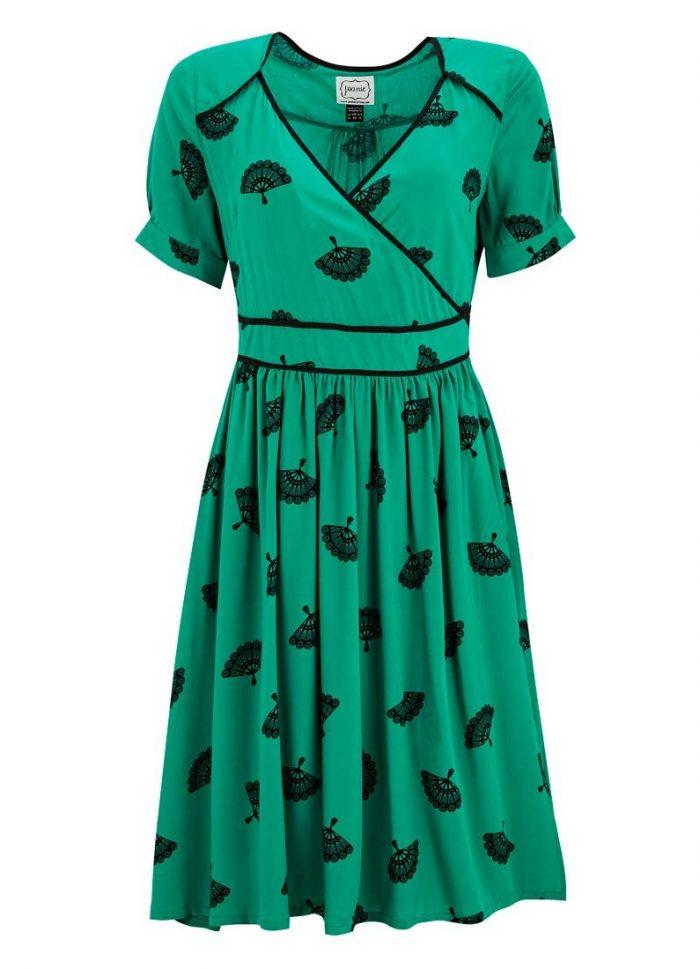 Vera Fan Wrap Dress