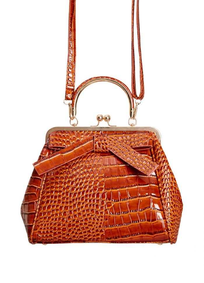 Astrid Patent Frame Bag