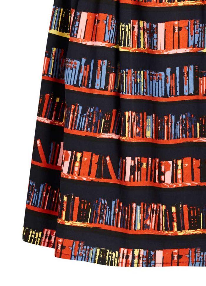Cressida Library Book Print Skirt