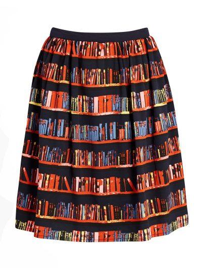Book print skirt
