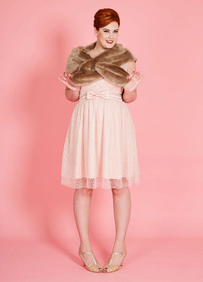 Antonia Mink Faux Fur Stole