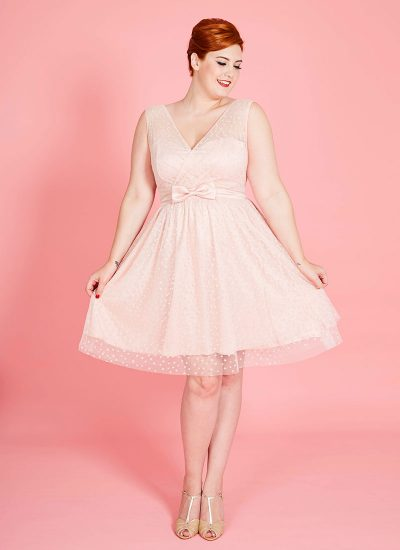 Tulle Occasion dress in Pink with stars