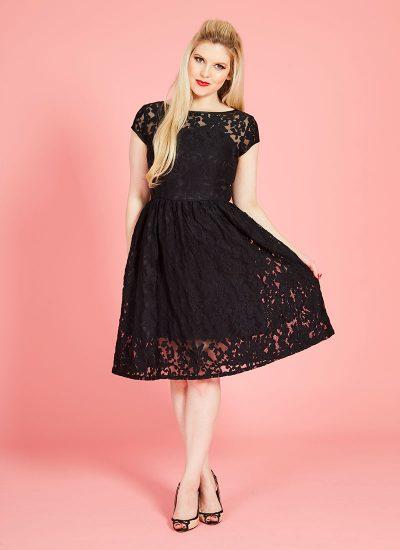 black lace occasion dress