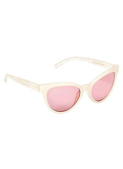 Cat eye pink lens sunglasses