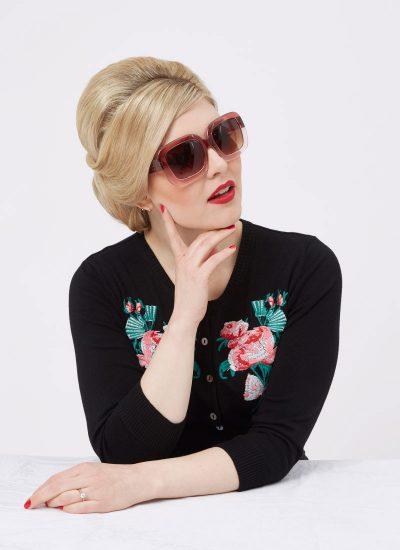 Retro Pink Ombre Sunglasses