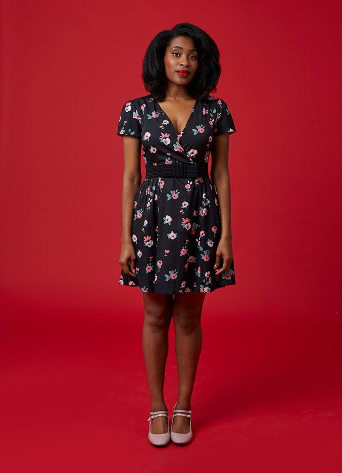 Elspeth Cross Front Tea Dress