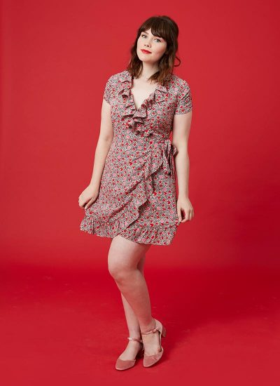 Heart Print Frill Dress