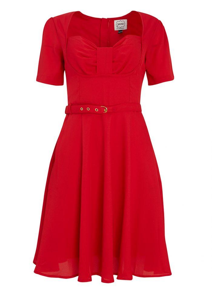 Anna Sweetheart Neck Tea Dress