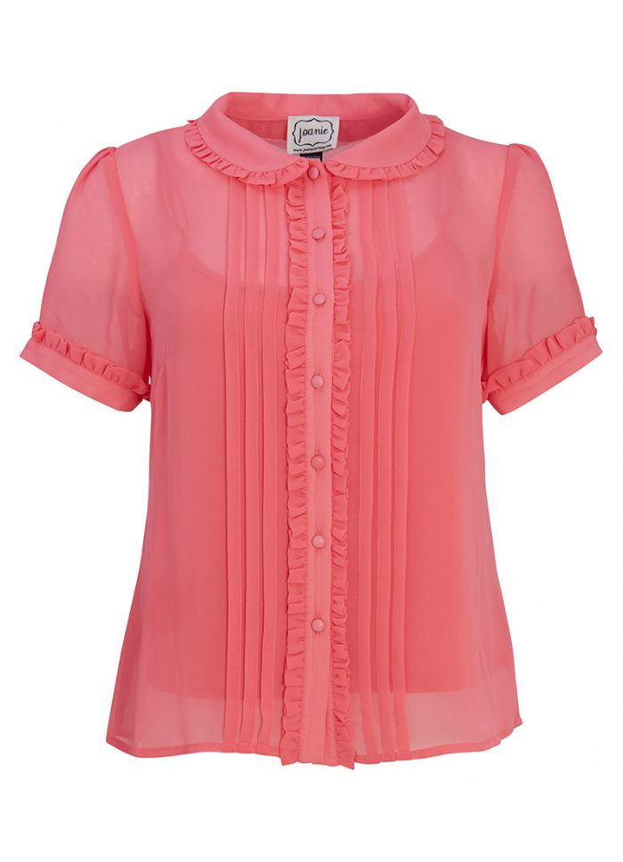 Cecily Pink Frill Blouse