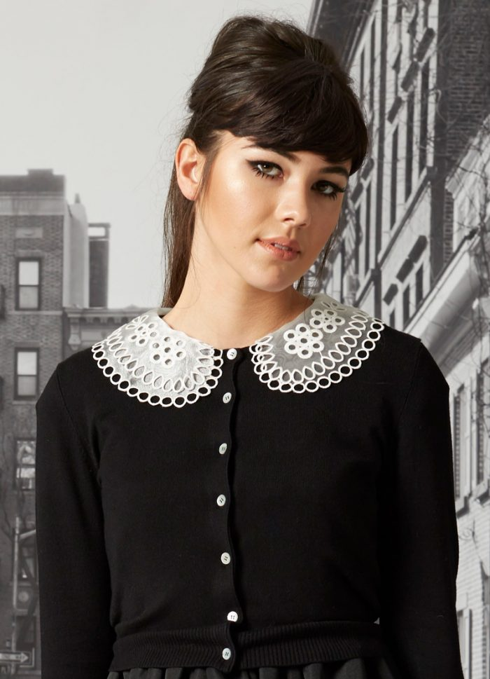 Amelie Embroidered Collar Cardigan