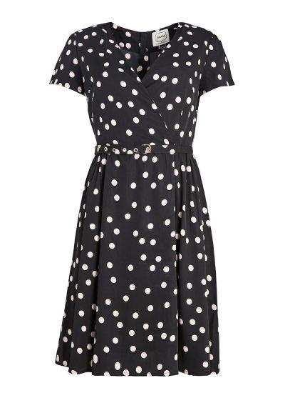 Black White Polka Dot Tea Dress