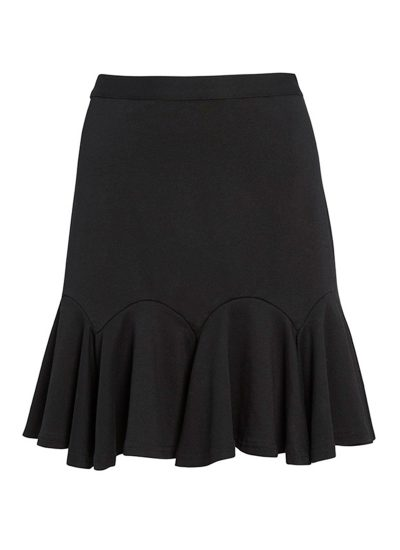 Black flippy skirt