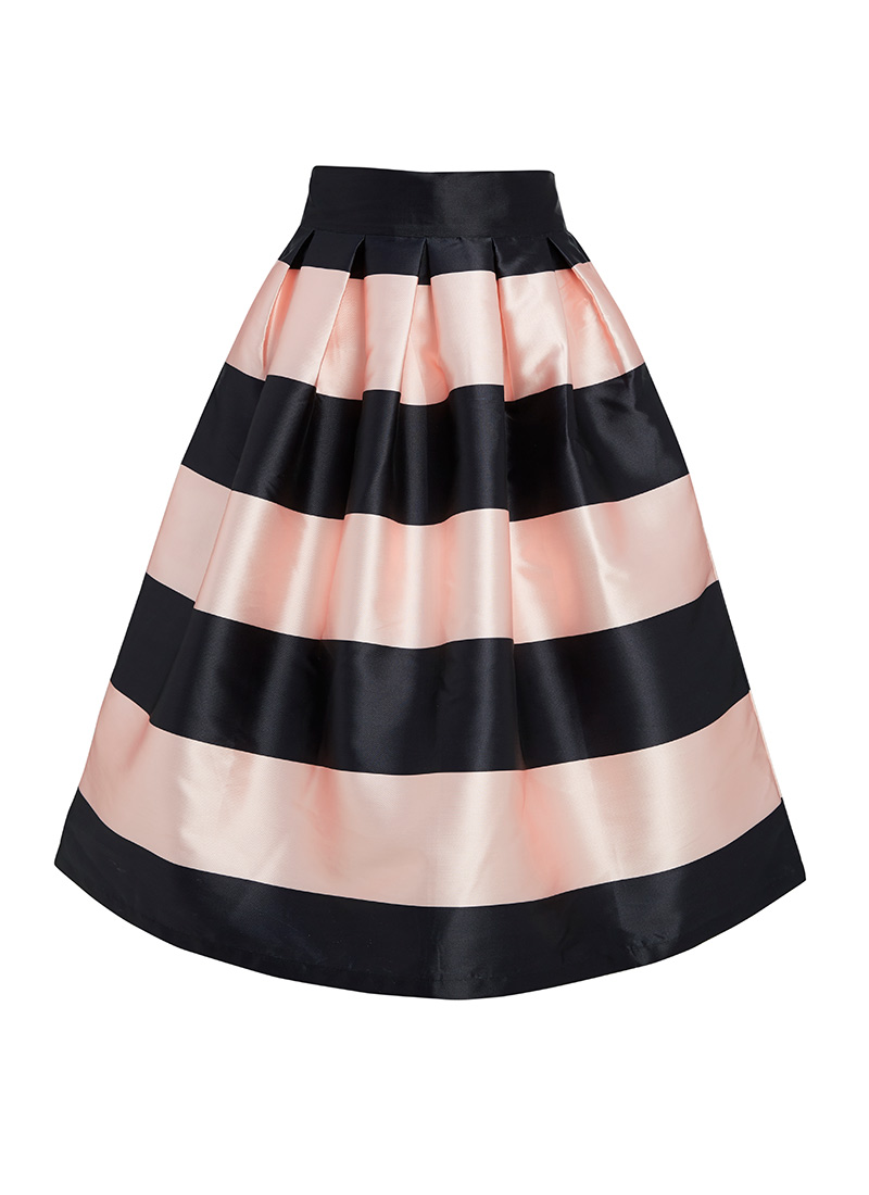 Mona Pink and Black Stripe Skirt | Full Occasion Skirt | Joanie ...