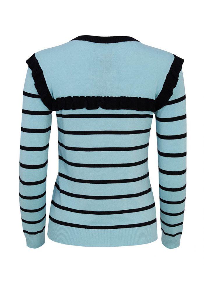 Ruthie Frill Blue Breton Stripe Jumper