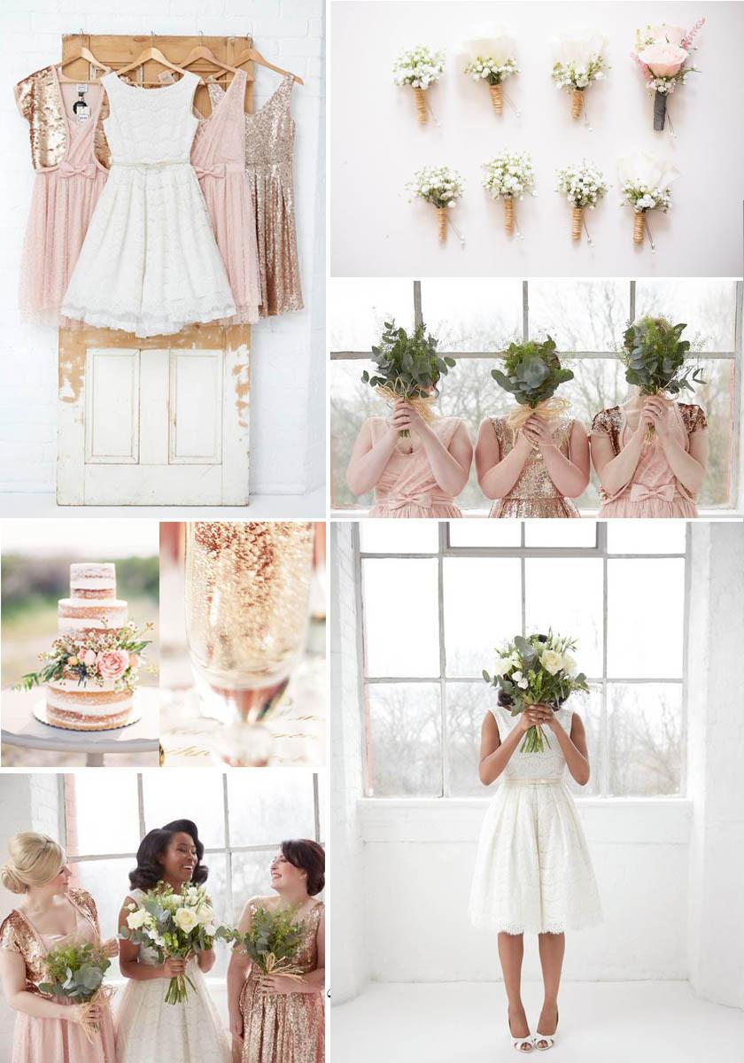 Vintage Wedding Theme- Rose Gold & Blush