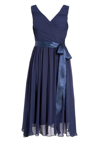 Navy Georgette Occasion Dress