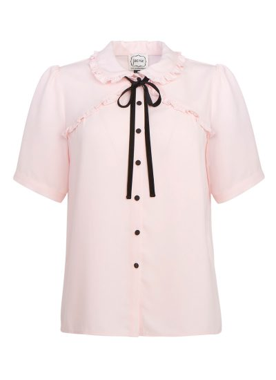 Pink Frill Collar Blouse