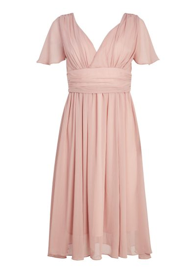 Pink Georgette Occasion Dress