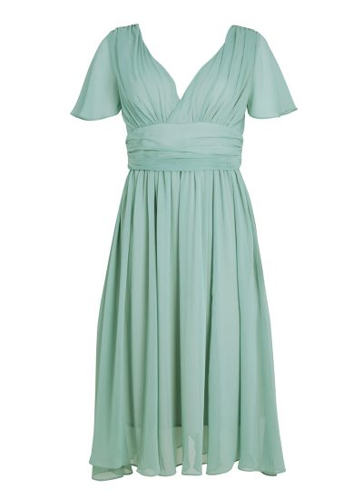 Green Georgette Occasion Dress