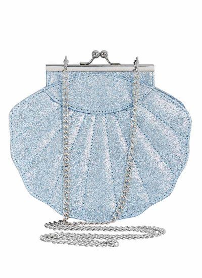 Blue Glitter Shell Bag