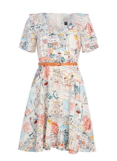 Paris Scene Tea Dress