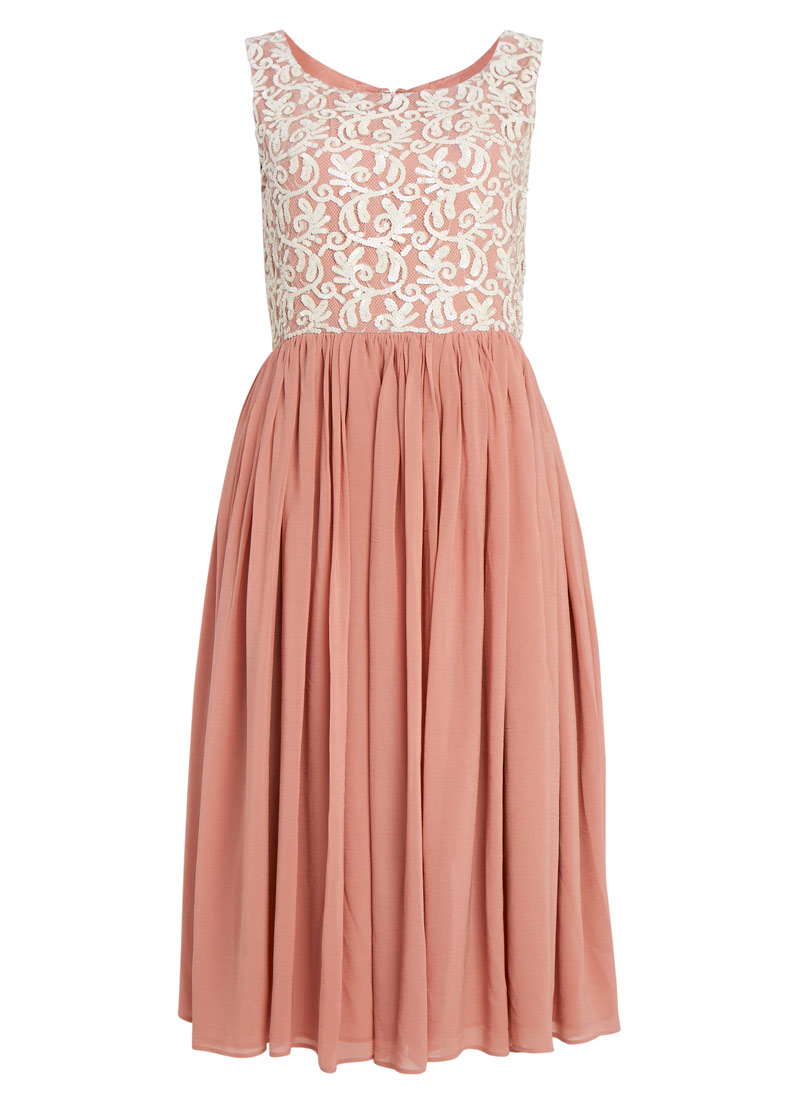 Xanthe Vintage-inspired Sequin Embellished Dress | Bridesmaid ...