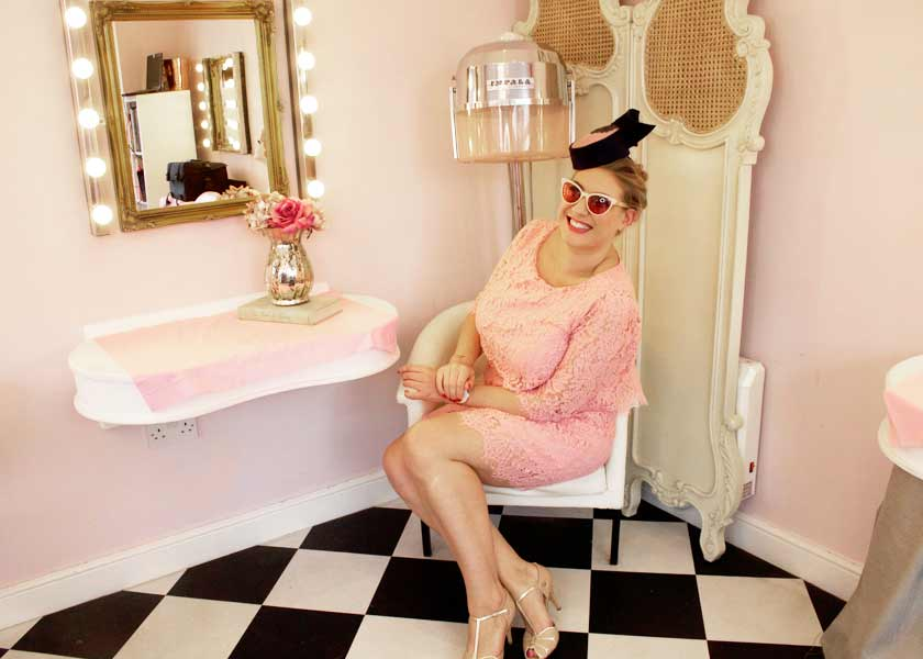 Behind the scenes filming at The Vintage Beauty Parlour