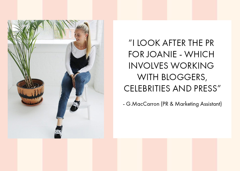 A Cup of Tea with Joanie and... our PR & Marketing Assistant