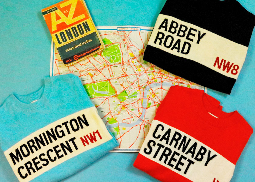 The Iconic Street Names of Our Latest Jumpers