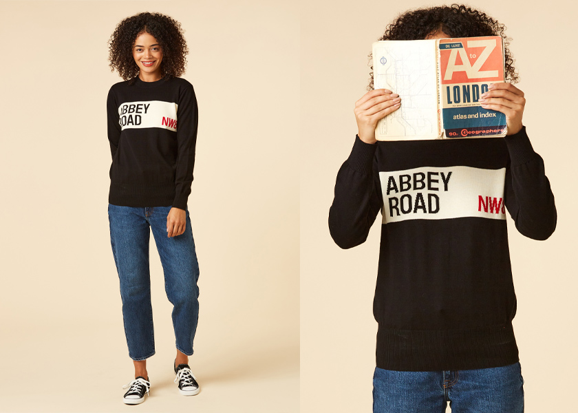 Joanie Clothing Ringo Abbey Road Black Jumper