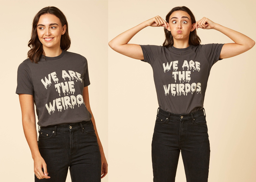 joanie Clothing Neve We Are The Wierdos Tee