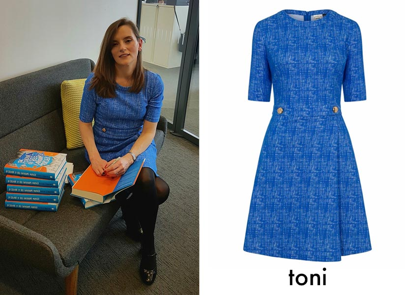 sarah j harris interview- toni dress