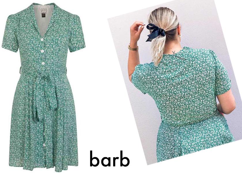 Hannah Gale wearing Joanie's Barb dress